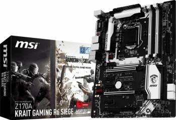 Placa de baza MSI Z170A Krait Gaming R6 Siege Socket 1151 Bonus Mouse Gaming MSI Interceptor