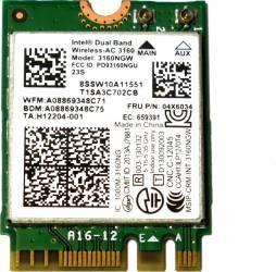 Placa de retea Intel Dual Band Wireless-AC 3160