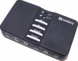 Placa de sunet Sandberg externa Sound Box 7.1 USB Placi de sunet