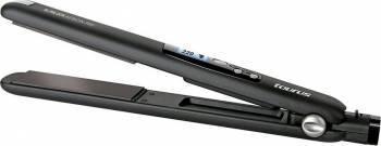 Placa indreptat si ondulat parul Taurus Slimlook Keratine Pro 30W Termostat digital reglabil Neagra Placi de indreptat parul