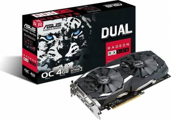 Placa video ASUS Radeon DUAL RX 580 OC 4GB GDDR5 256bit Placi video