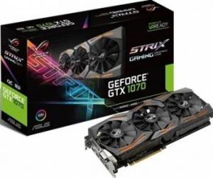 Placa video Asus GeForce GTX 1070 ROG Strix OC 8GB DDR5 256Bit Placi video