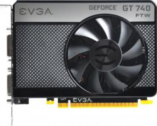Placa video EVGA GeForce GT 740 FTW 1GB DDR5 128Bit