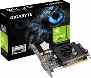 Placa video Gigabyte GeForce GT 710 1GB DDR3 64Bit
