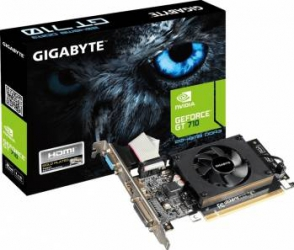 Placa video Gigabyte GeForce GT 710 2GB DDR3 64Bit Placi video