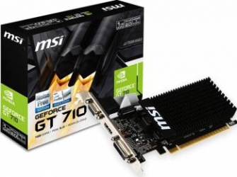 Placa video MSI GeForce GT 710 1GB DDR3 LP 64Bit