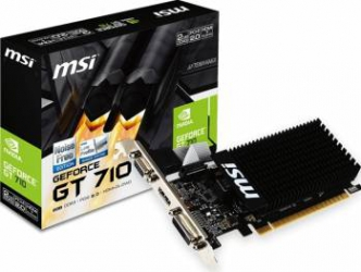 Placa video MSI GeForce GT 710 2GB DDR3 LP 64Bit Placi video