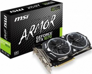 Placa video MSI GeForce GTX 1070 ARMOR 8GB OC GDDR5 256bit Bonus Mouse Pad Newmen MP-237 + Bundle Nvidia Watch Dogs