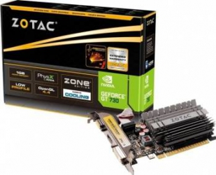 Placa video Zotac GeForce GT 730 Zone Edition 2GB DDR3 64Bit Low Profile Placi video