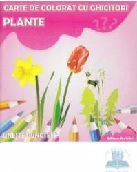 Plante - Carte de colorat cu ghicitori