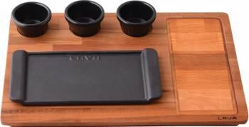 Platou servire 13 x 25 cm - LAVA  Vesela pentru masa