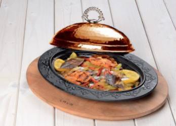 Platou servire tava ovala 28 x 20 cm - LAVA  Vesela pentru masa