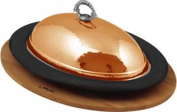 Platou servire tava ovala 32 x 23 cm - LAVA  Vesela pentru masa