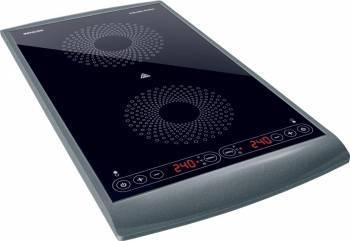 Plita Electrica Incorporabila Sencor SCP 5404 GY, 2 arzatoare, 2900W Negru-Gri Plite Incorporabile