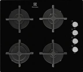 Plita incorporabila Electrolux EGT6142NOK Gaz 4 Arzatoare Aprindere electrica Negru Plite Incorporabile