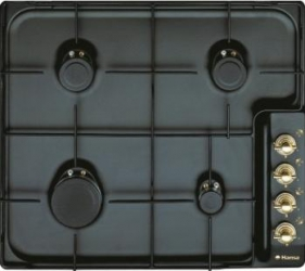 Plita incorporabila rustica Hansa BHG63100020 Gaz 4 Arzatoare Aprindere electrica Negru Plite Incorporabile