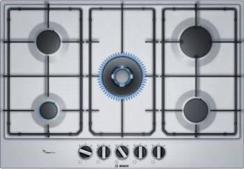 Plita incorporabila Bosch PCQ7A5B80 gas 5 arzatoare Arzator WOK 75 cm Inox Plite Incorporabile
