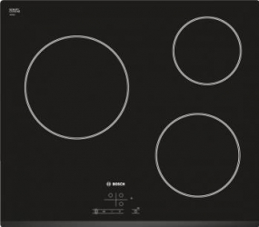 Plita incorporabila Bosch PKN675DP1D Vitroceramic 3 zone de gatit HighSpeed Timer Negru