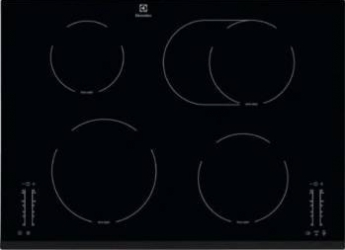 Plita incorporabila Electrolux EHF76451FK Vitroceramica 4 zone de gatit 71 cm Negru