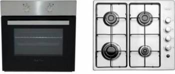 Plita incorporabila Gaz Studio Casa Milano PG 60Inox + Cuptor incorporabil Electric Studio Casa FE 606 Inox Milano Cuptoare Incorporabile