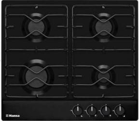 Plita incorporabila Hansa BHGS63010 Gaz 4 Arzatoare Aprindere electrica Dispozitiv de siguranta Negru Plite Incorporabile