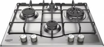 Plita incorporabila Hotpoint PCN 642 TIXHA Gaz 4 arzatoare Aprindere electrica Inox Resigilat Plite Incorporabile