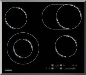 Plita incorporabila Samsung CTR164NC01 Electric 4 Zone Sticla neagra Plite Incorporabile
