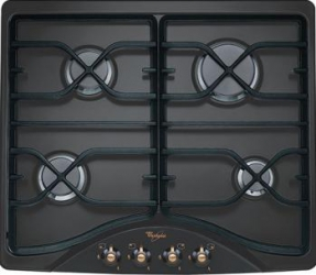 Plita incorporabila Whirlpool AKM528NA Gaz 4 Arzatoare Aprindere electrica Negru Plite Incorporabile