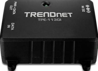 PoE Injector TRENDnet TPE-113GI Gigabit Adaptor Retea