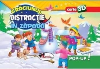 Pop-up 3D Craciunul. Distractie in zapada