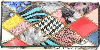 Portofel dama din piele naturala GPD214-Multicolor Portofele
