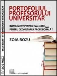 Portofoliul profesorului universitar - Zoia Bozu