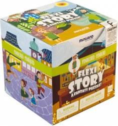 Poveste puzzle Pinocchio - Miniland Puzzle si Lego