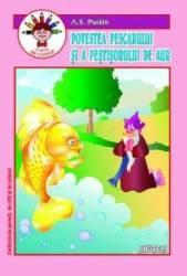 Povestea pescarului si a pestisorului de aur. Carte de colorat - A.S. Puskin