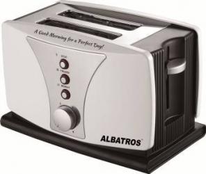 Prajitor de paine Albatros Dueto 800W 2 Felii Termostat reglabil Inox