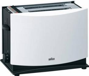 Prajitor de paine Braun MultiToast HT400 1000W 2 felii Reincalzire Oprire automata Alb Prajitoare