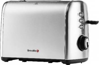 Prajitor de paine Breville VTT505X-01 950W 2 felii Butoane iluminate Functie dezghetare Inox Prajitoare