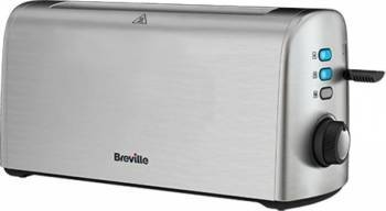 Prajitor de paine Breville VTT728X-01 1600W 4 felii Functie reincalzire si dezghetare Alb Prajitoare