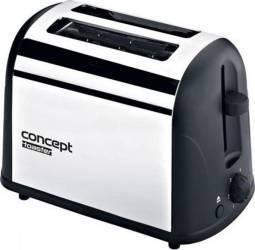 Prajitor de paine Concept TE2040 700W 2 felii 6 nivele de putere Inox Prajitoare