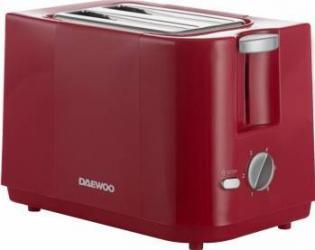 Prajitor de paine Daewoo DBT40 750W 6 niveluri de rumenire Tava frimituri Rosu Prajitoare