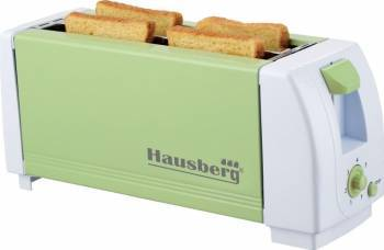 Prajitor de paine Hausberg HB-185 4 felii 1300W 7 trepte temperatura Verde Prajitoare