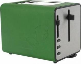 Prajitor de Paine Heinner Silicon 870W 6 Trepte Rumenire Silicon Verde Prajitoare