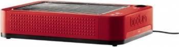 Prajitor de paine orizontal Bodum Bistro Red, 650W, Rosu Prajitoare