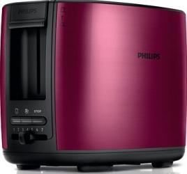 Prajitor de paine Philips HD2628/00, 950 W, 2 felii, Rosu Burgundy  Prajitoare