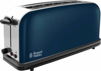 Prajitor de paine Russell Hobbs Royal Blue Long Slot 21394-56 1000W 2 felii Albastru-Inox