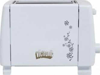 Prajitor de paine Victronic VC883 700W 2 Felii 6 Nivele de putere Alb