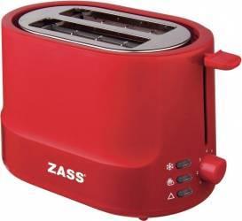 Prajitor de paine Zass ZST 10 RL 850W 2 felii 5 nivele de putere Rosu