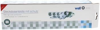 Prelungitor Well 7cai 3m cu priza cu protectie 3xG1.5mmp   Prize