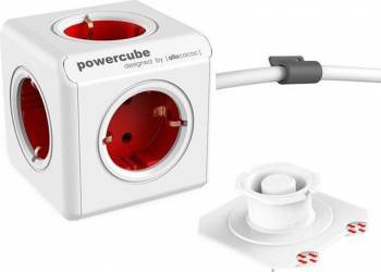 Prelungitor PowerCube Allocacoc 1300RD Extended 1.5m Rosu Prize