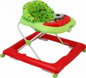 Premergator copii cu roti din silicon Baby Mix BG-1601 Red Green Balansoare, premergatoare, centre activi